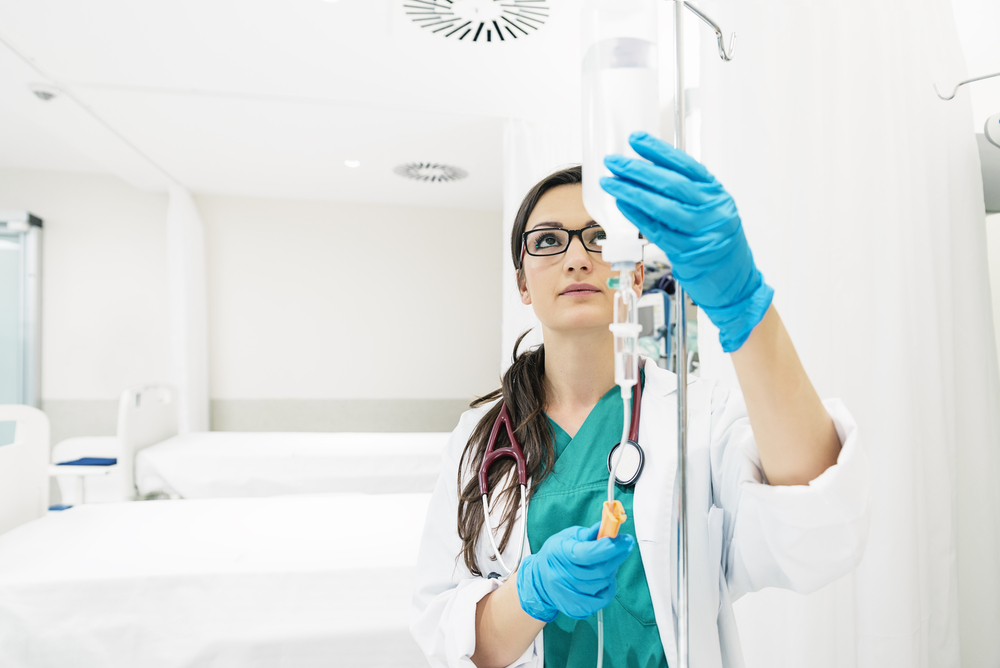 young woman doctor anesthesiologist
