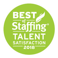 Best of Staffing Talent Satisfaction 2018 Logo