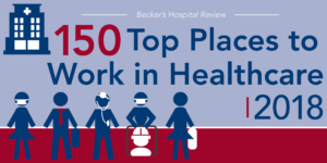 Top Places to Work in Healthcare 2018 award